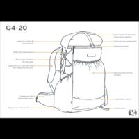 Gossamer Gear G4-20 Ultralight 42L Backpack Electric Blue