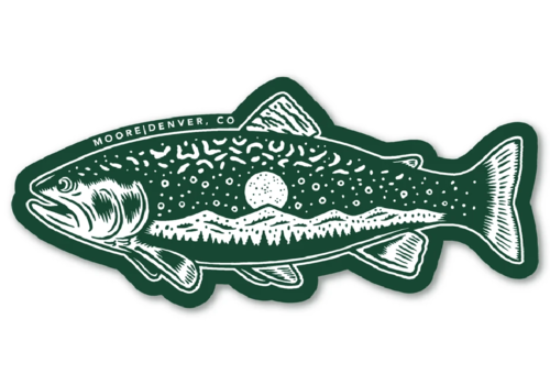 Moore Collection Moore Collection Trout Sticker