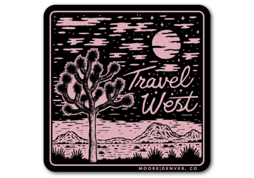 Moore Collection Moore Collection Travel West Sticker