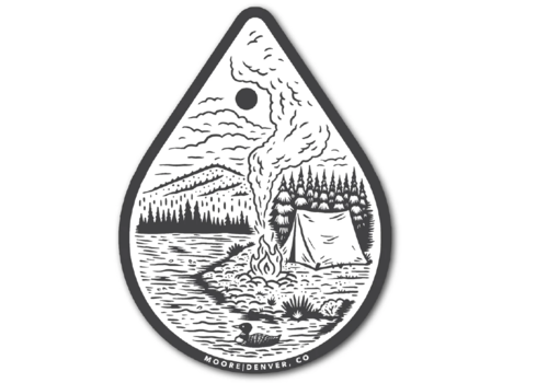 Moore Collection Moore Collection River Camp Sticker