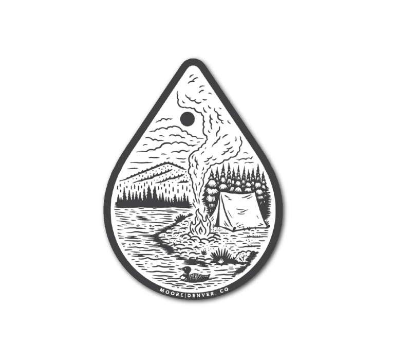 Moore Collection River Camp Sticker