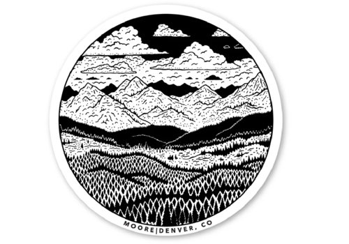 Moore Collection Moore Collection Mountain Range Sticker