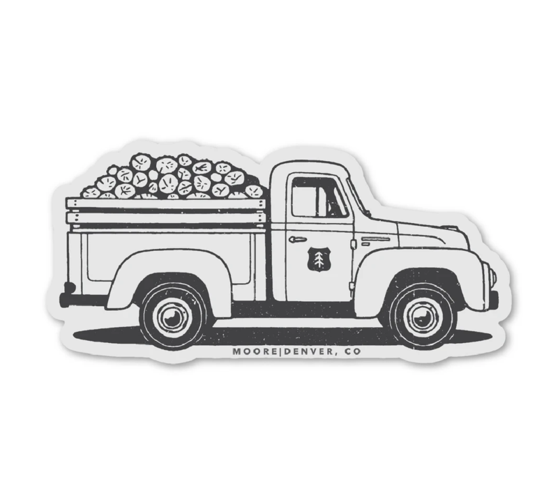 Moore Collection Lumber Truck Sticker