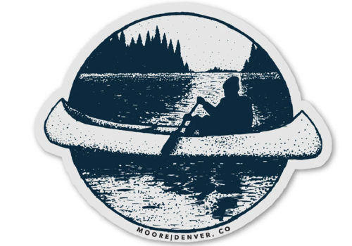 Moore Collection Moore Collection Canoe Sticker