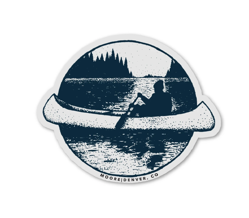 Moore Collection Canoe Sticker