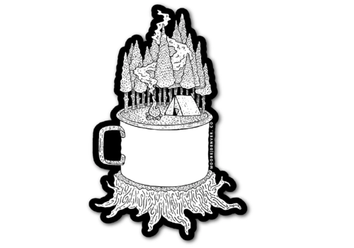 Moore Collection Moore Collection Camping Cup Sticker