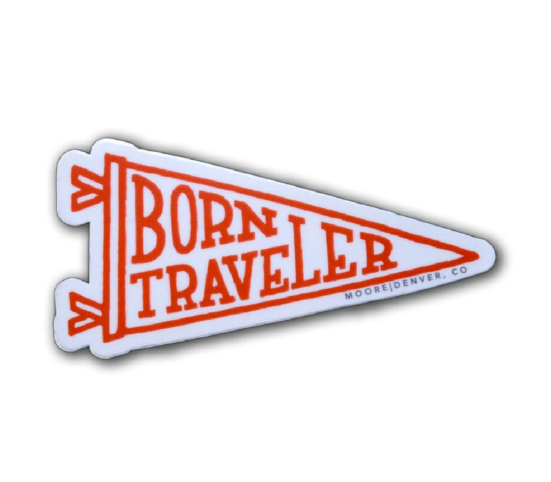Moore Collection Born Traveler Sticker