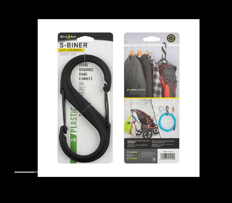 Nite-Ize Plastic S-Biner #8 Carabiner Black