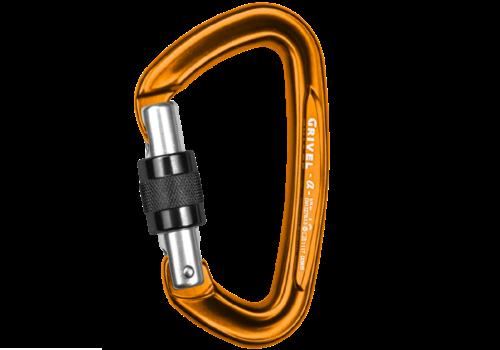 Grivel K1N Alpha Screw Gate Locking Carabiner Anodized Gold