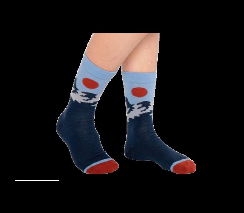 Woven Pear Merino Wool Socks
