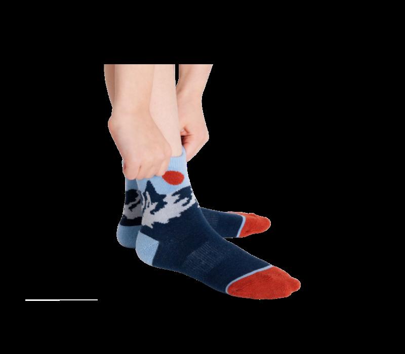 Woven Pear Merino Wool Children's Socks