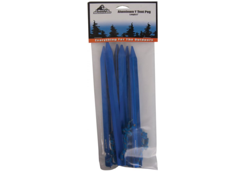 """Libery Mountain Aluminum Tent Pegs 9"""" 6 Pack"""