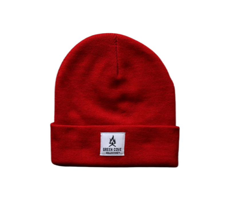 Green Cove Collective Watch Beanie Red