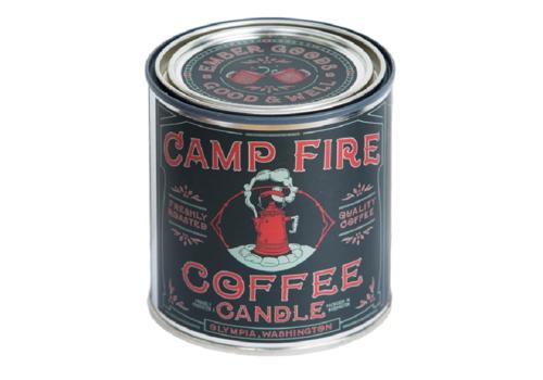 Good & Well Supply Co. Campfire Coffee 1/2 Pint Candle - Espresso | Cedarwood | Sandalwood