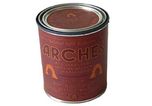 Good & Well Supply Co. Arches National Park 1/2 Pint Candle - Red Sandstone | Copaiba Balsam | Sandalwood