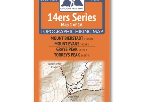 Outdoor Trail Maps Outdoor Trail Maps 14er Series : Bierstadt | Evans | Grays | Torreys Map