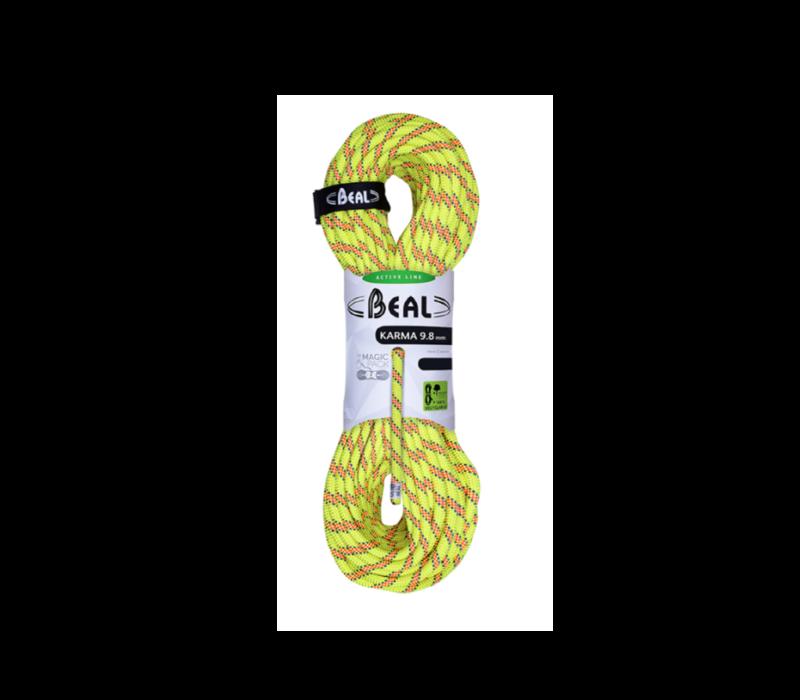 Beal Karma 9.8mm x 60m Yellow Climbing Rope