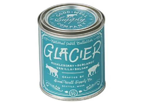 Good & Well Supply Co. Glacier National Park 1/2 Pint Candle - Huckleberry Bergamot + Vanilla