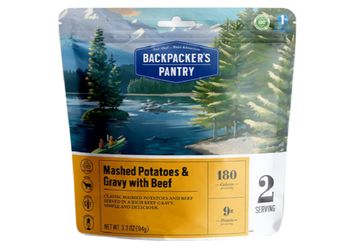 Backpacker's Pantry Backpacker's Pantry Potatoes and Gravy with Beef Freeze Dried Meal