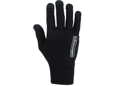 Outdoor Designs Stretch Wool Touch Base Layer Glove Black