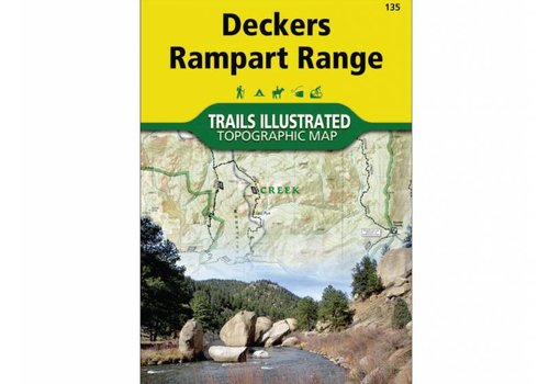 National Geographic National Geographic 135: Deckers | Rampart Range Map