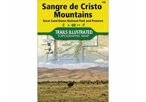 National Geographic National Geographic 138: Sangre De Cristo Mountains Map