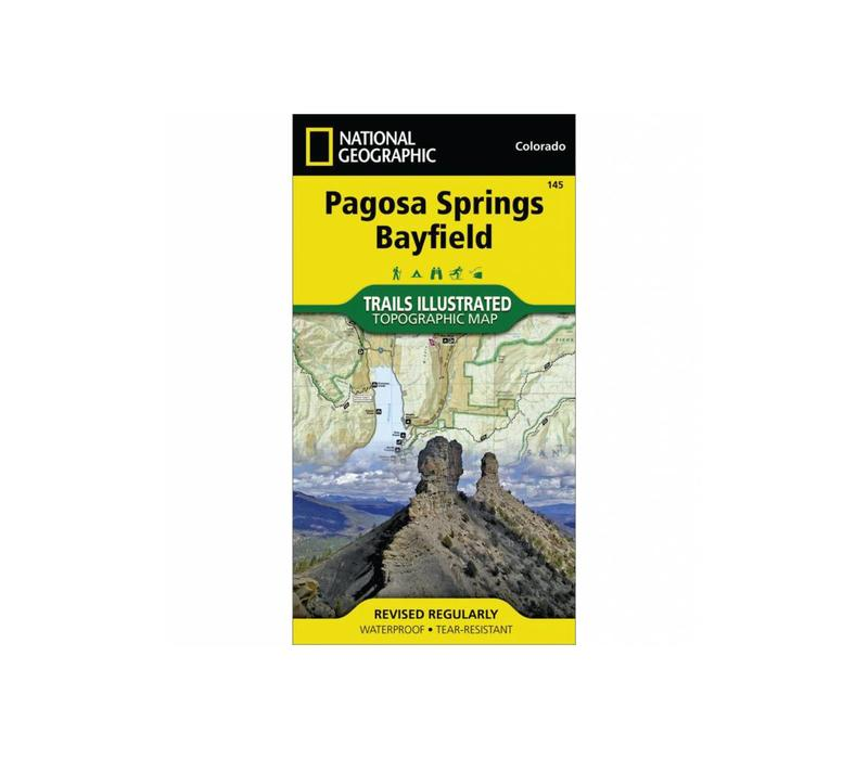 National Geographic 145: Pagosa Springs   Bayfield Map
