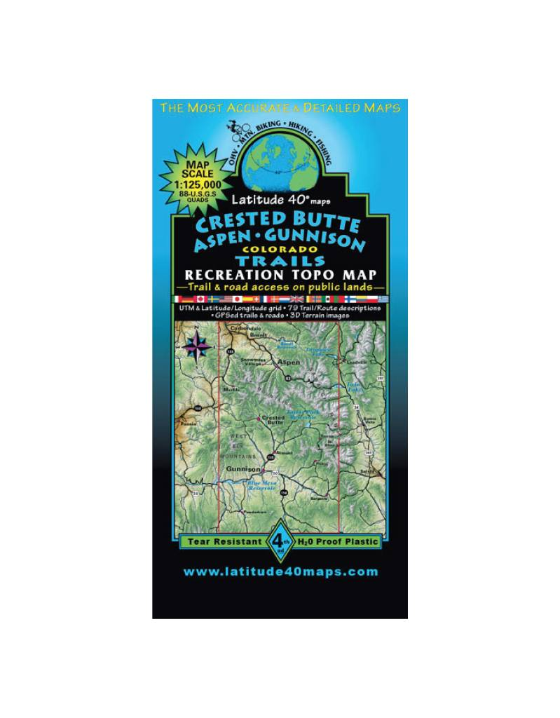 Taylor Park Colorado Map.Latitude 40 Crested Butte Taylor Park Map Feral