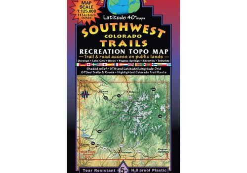 Latitude 40 Southwest Colorado Map