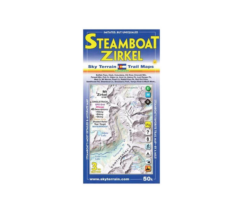 Sky Terrain Trail Maps Steamboat Springs Mt Zirkel - FERAL