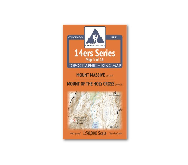 Outdoor Trail Maps 14er Series : Mount Massive | Mount of the Holy Cross Map