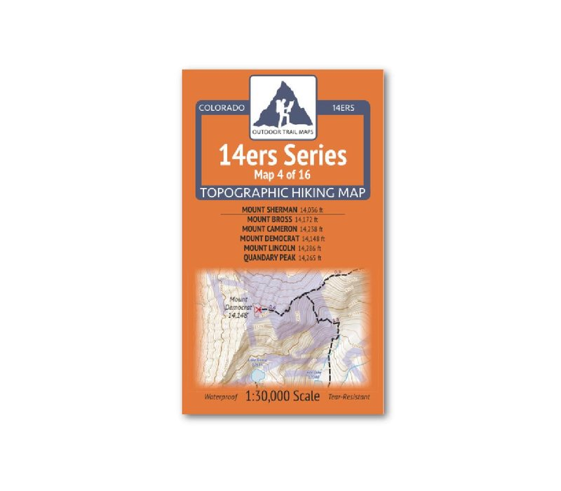 Outdoor Trail Maps 14er Series : Sherman | Bross | Cameron | Democrat | Lincoln | Quandary Map