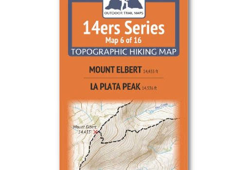 Outdoor Trail Maps 14er Series : Mt. Elbert | La Plata Map