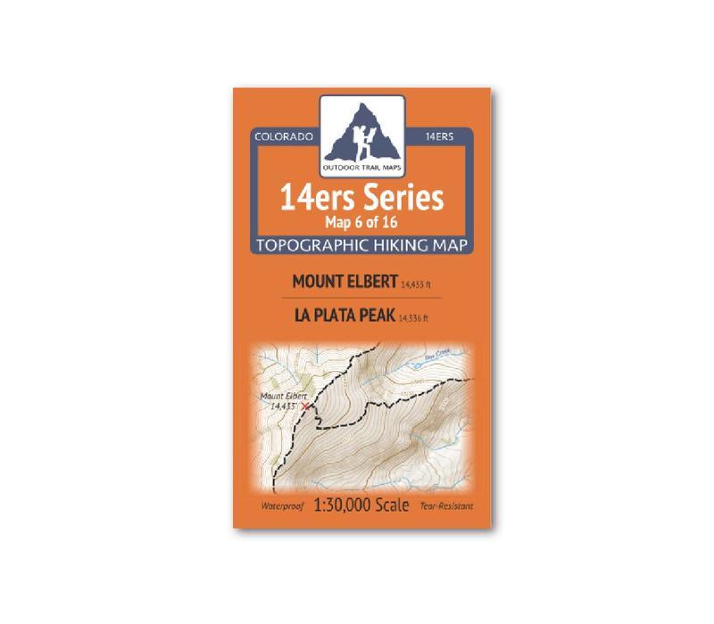 Outdoor Trail Maps 14er Series : Mt. Elbert   La Plata Map