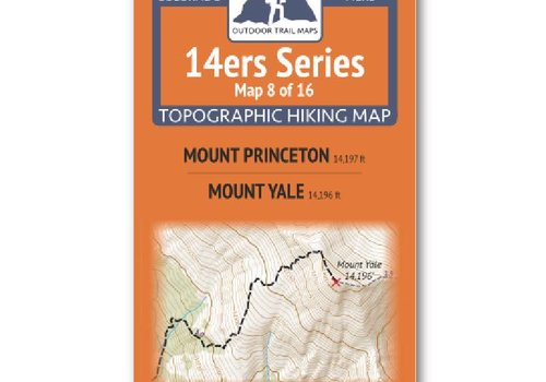 Outdoor Trail Maps Outdoor Trail Maps 14er Series : Princeton | Yale Map
