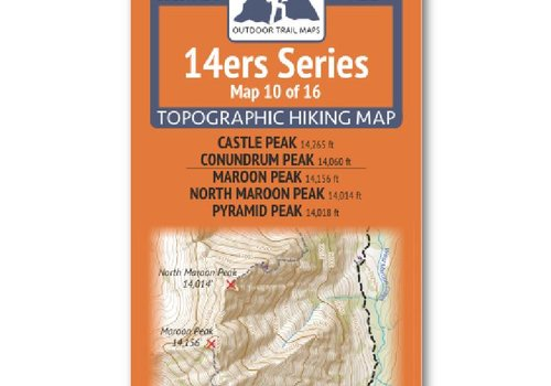 Outdoor Trail Maps Outdoor Trail Maps 14er Series : Castle | Conundrum | Maroon | North Maroon | Pyramid Map