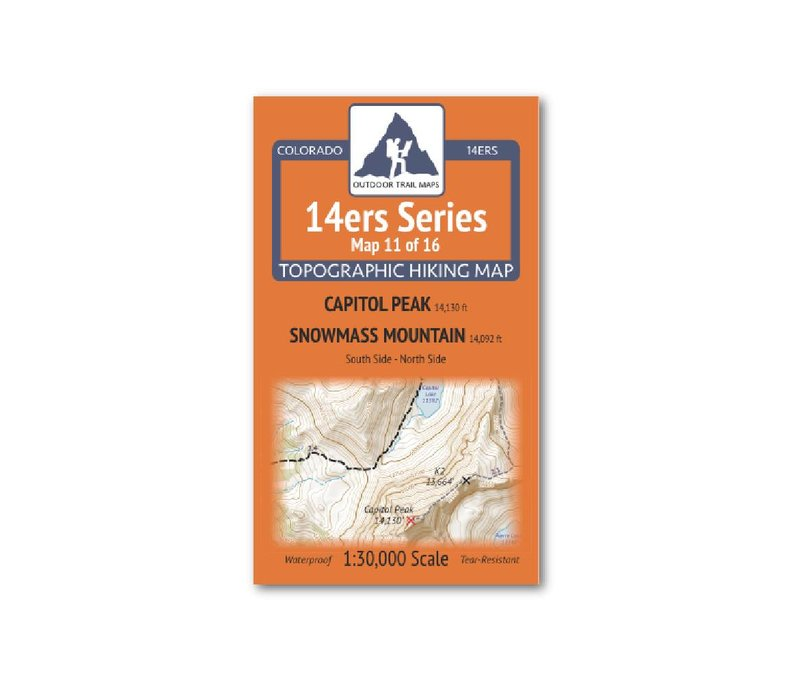 Outdoor Trail Maps 14er Series : Capitol   Snowmass Map