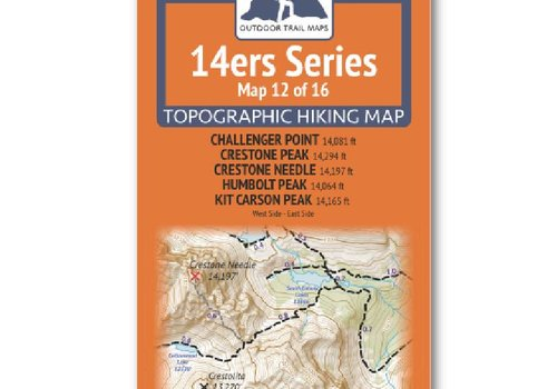 Outdoor Trail Maps 14er Series : Challenger | Crestone | Crestone Needle | Humbolt | Kit Carson Map