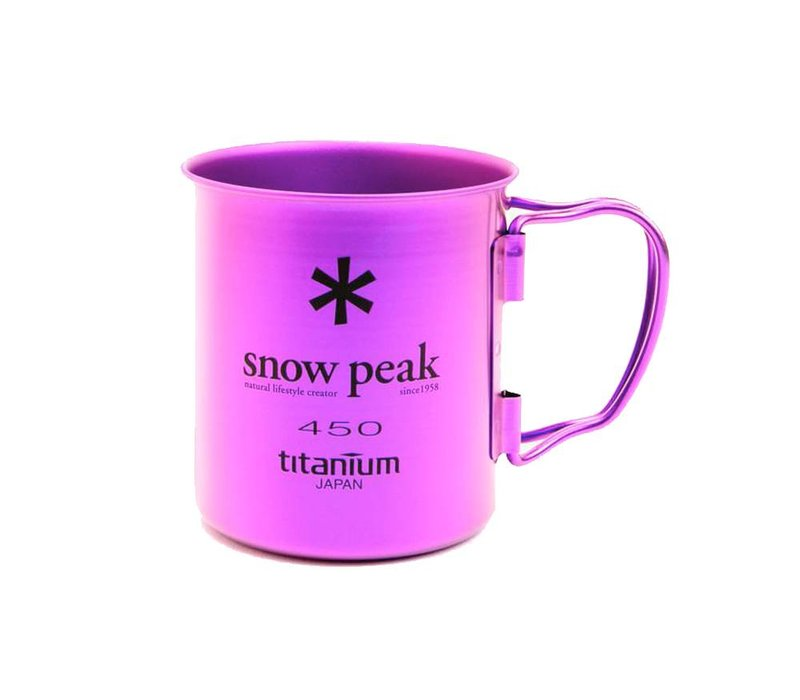 Snow Peak Titanium Single-Wall 450 Colored Cup