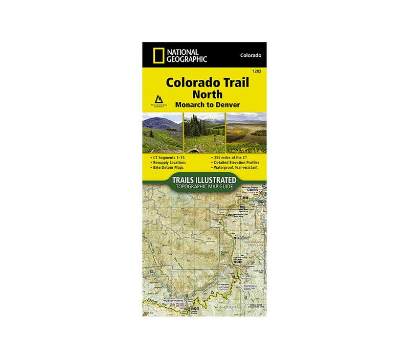 National Geographic 1202: Colorado Trail North Monarch to Denver Map