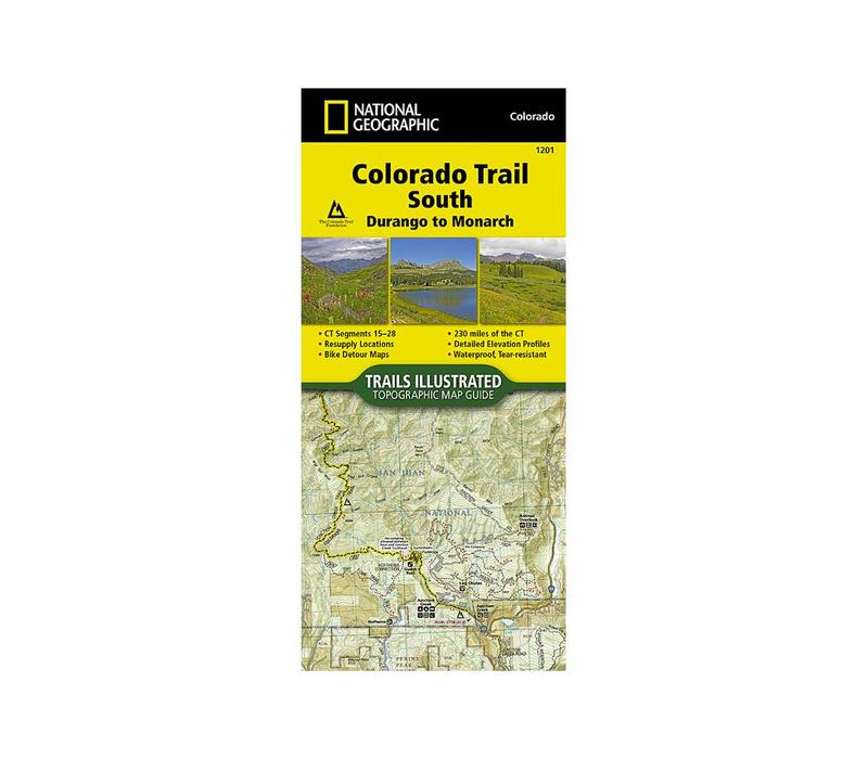 National Geographic 1201: Colorado Trail South Durango to Monarch Map