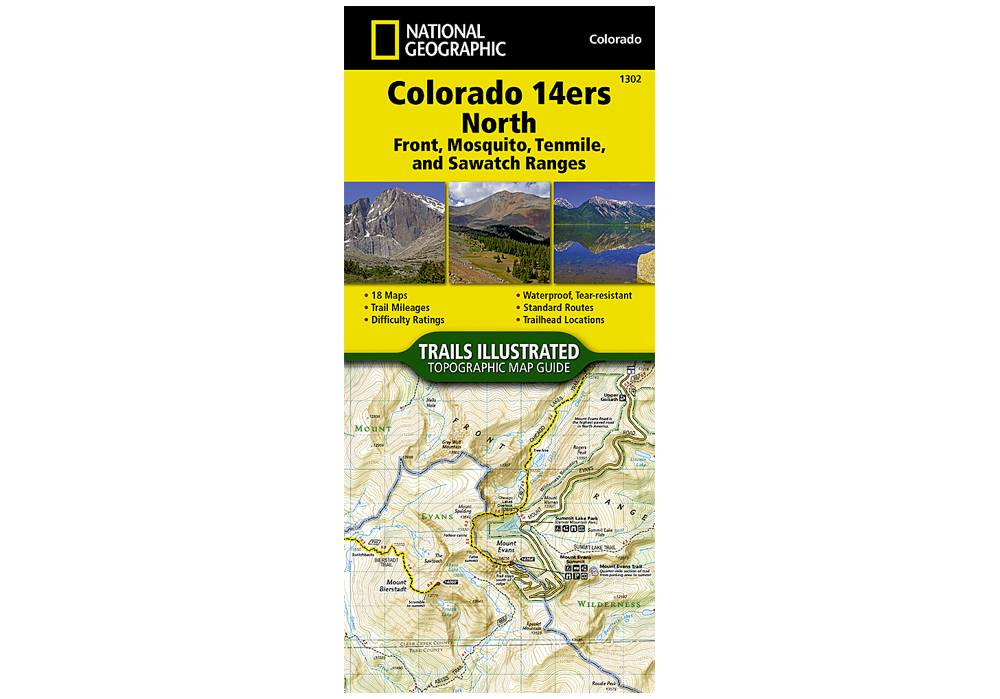 National Geographic 1302: Colorado 14ers North | Front | Mosquito ...