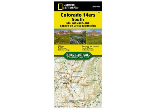 National Geographic National Geographic 1303: Colorado 14ers South Map Guide (San Juan, Elk, and Sangre de Cristo Mountains)