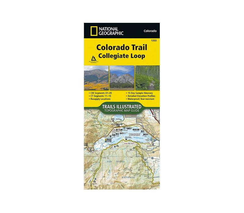 National Geographic 1203: Colorado Trail Collegiate Loop Map