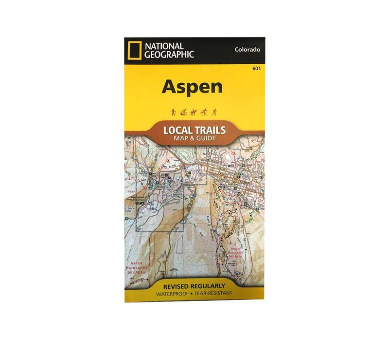 National Geographic 601: Aspen Local Trails Map & Guide
