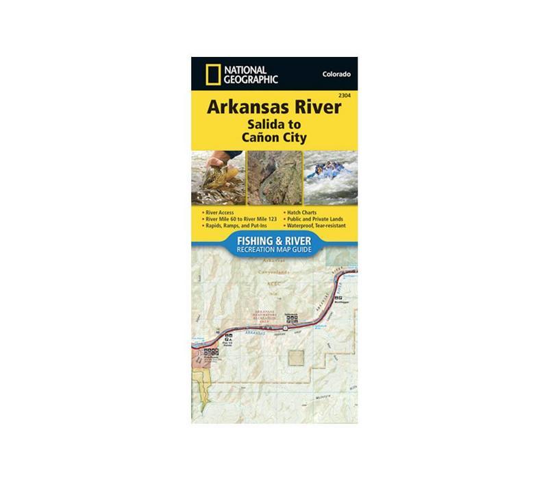 National Geographic 2304: Arkansas River Salida to Canon City Map