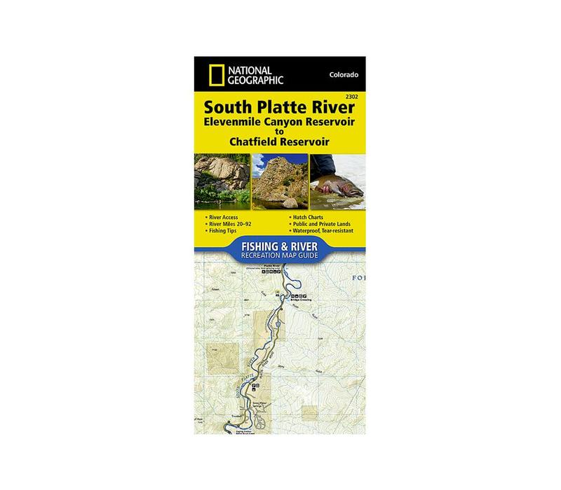 National Geographic 2302: South Platte River Elevenmile Canyon Reservoir to Chatfield Reservoir Map