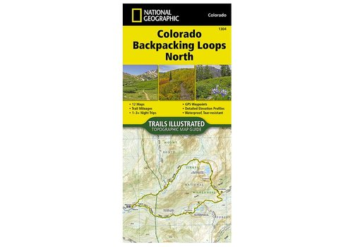 National Geographic National Geographic 1304: Colorado Backpacking Loops North Map