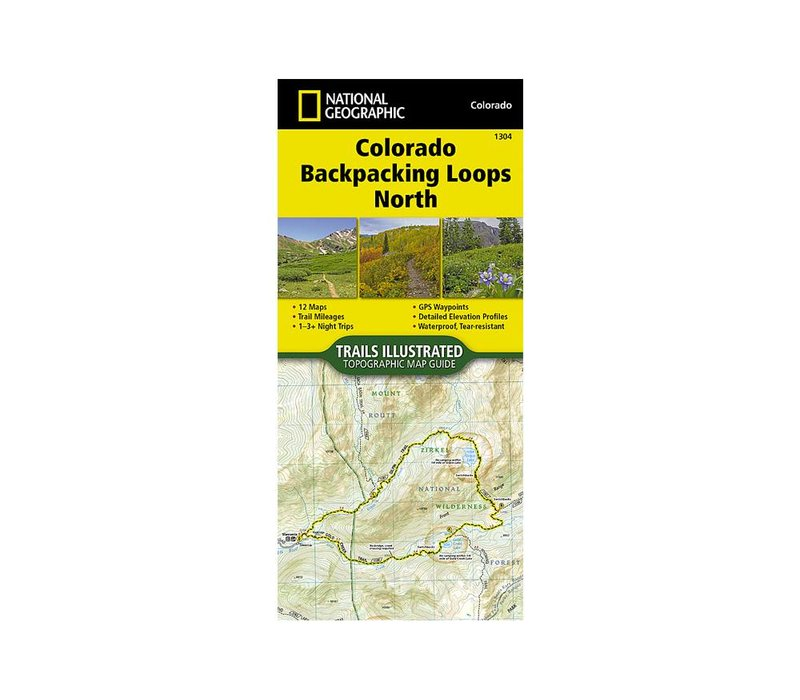 National Geographic 1304: Colorado Backpacking Loops North Map