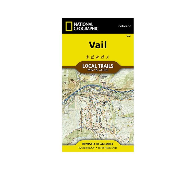 National Geographic 602: Vail Local Trails Map & Guide